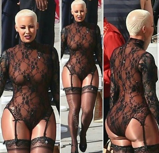 Amber Rose steps out in racy outfit