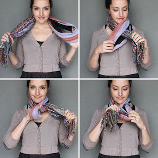 How to tie a scarf in double loop