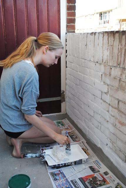 bakstenen schilderen