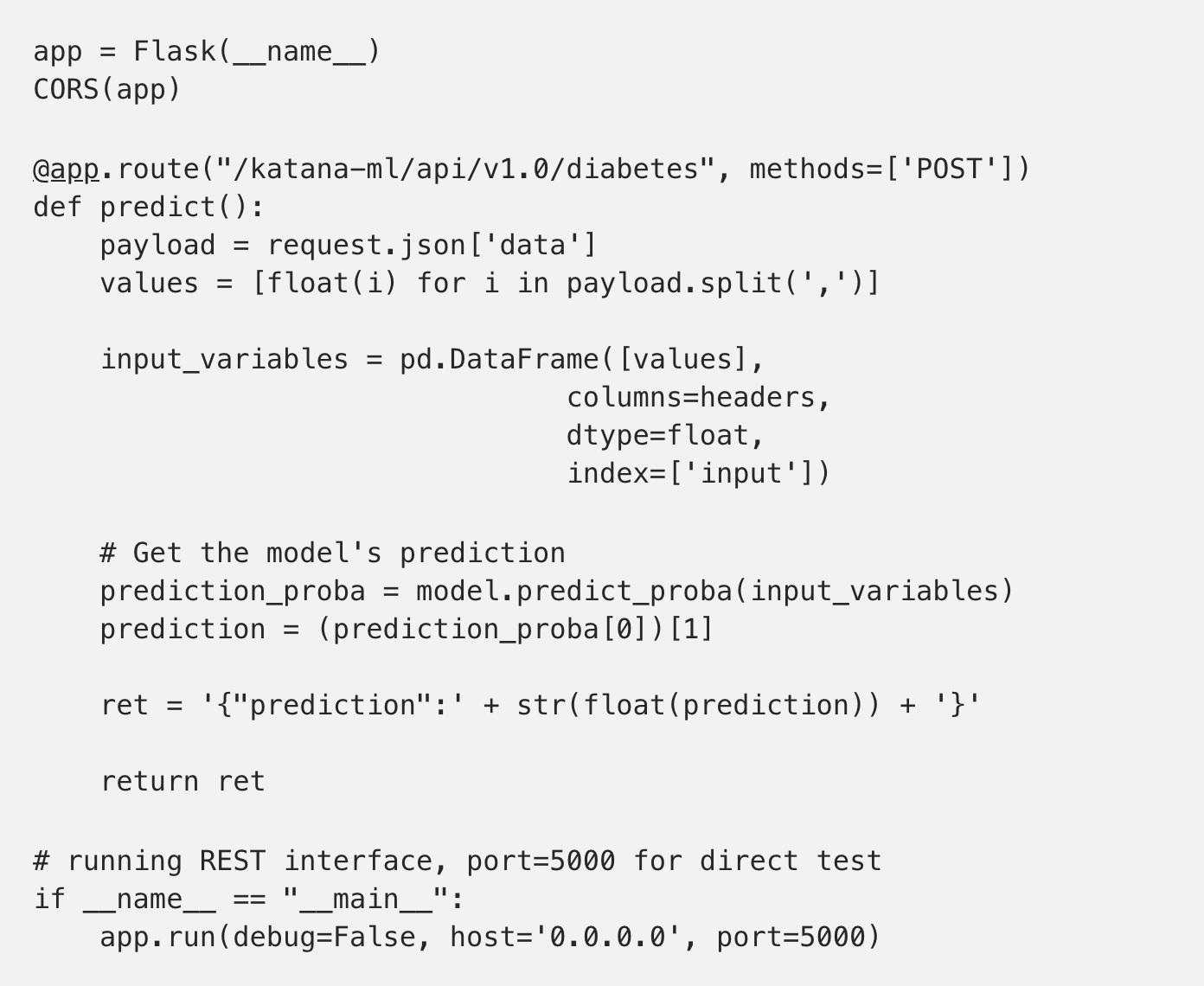 Andrejus Baranovskis Blog: Publishing Machine Learning API