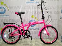 Sepeda Lipat Evergreen X8 6 Speed 20 Inci