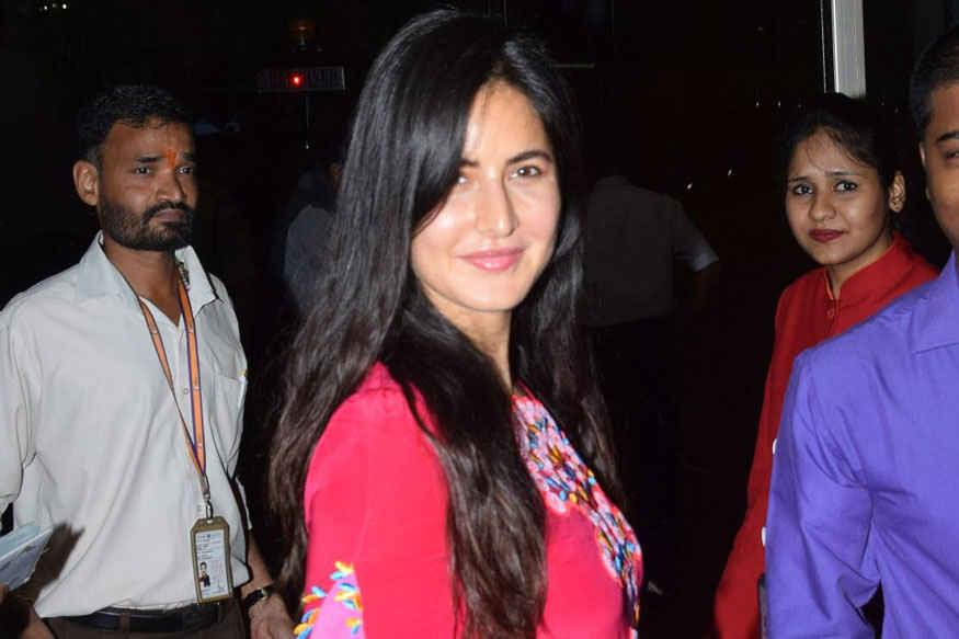 Katrina Kaif In Pink Salwar Suit Spotted at Mumbai Airport