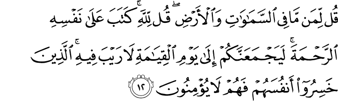 Surat Al-An'am Ayat 12