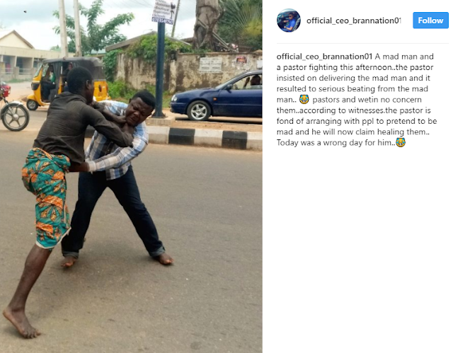 Lokoja Pastor Attempts To Heal A Mad Man But Gets Beaten (Photos)2