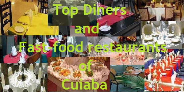 Top diners and fast-food restaurants of Cuiaba in Brazil