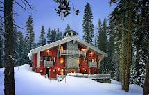 Vintage Farmhouse Alpine Ski Chalet