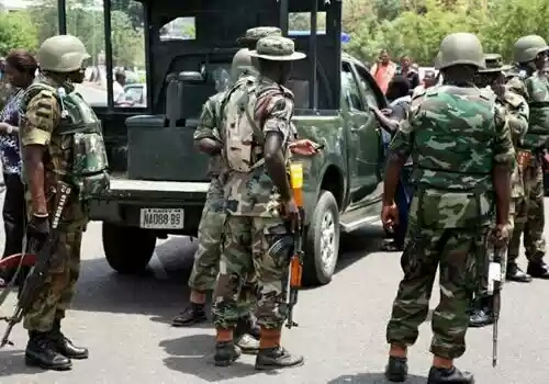 Army Arrest Two Men Transporting 15 Bags Of Marijuana To Lagos