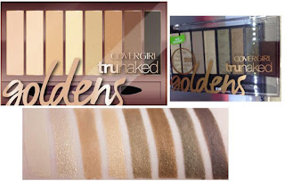 CoverGirl TruNaked Eye Shadow Goldens, shimmery look
