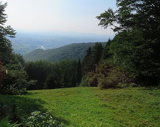 Widok na dolinę Popradu.