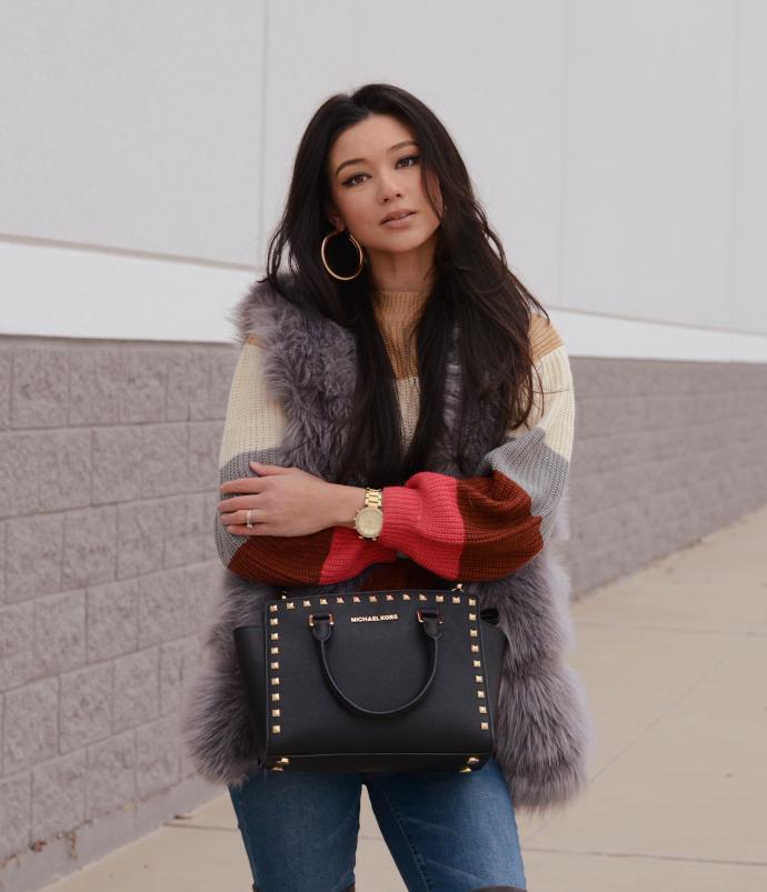 fashionnova, 90s-lover-stripe-sweater-multi, ymi jeans, urbanog, overknee boots