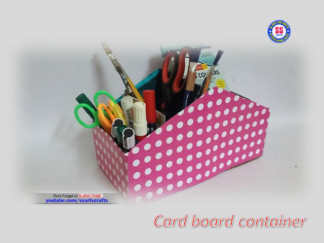Here is card board crafts,recycled crafts,best out of the waste,how to make containers with show boxes,EMpty card board boxes crafts,reused kids crafts,empty boxes crafts,how to make card board reused item