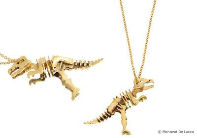 Collar de tiranosaurio Rex de oro