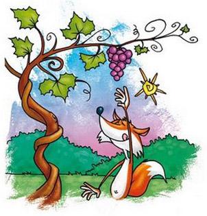 fabula de la zorra y las uvas