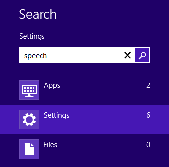 windows 8 search bar