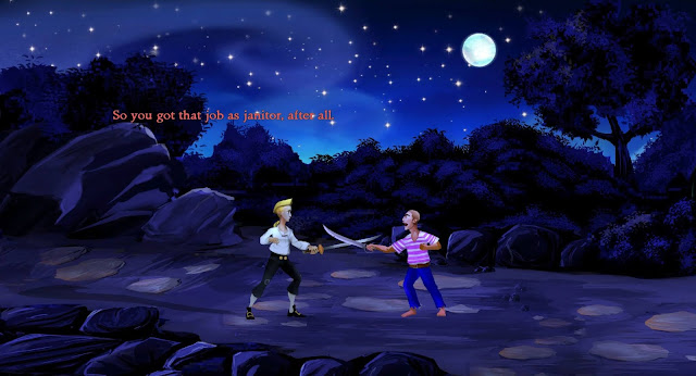 video game - The Secret of Monkey Island - Guybrush Threepwood fights a pirate
