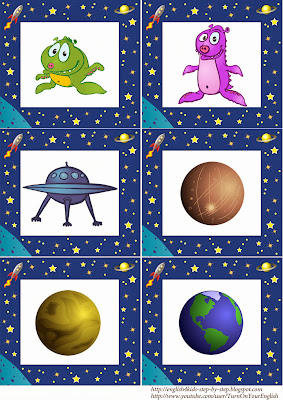 alien space flashcards for esl