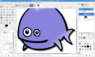 screenshot of GIMP