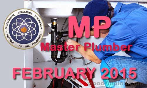 Full List of Passers February 2015 Master Plumber Board Exam Results