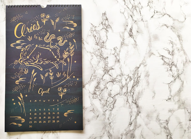 Rifle Paper Co. Constellations Wall Calendar april 2017