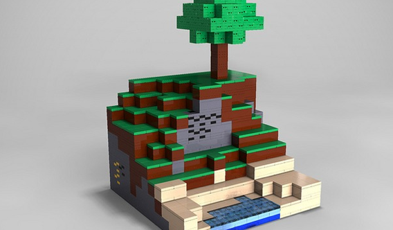 Minecraft Lego House -Starter House  A small house