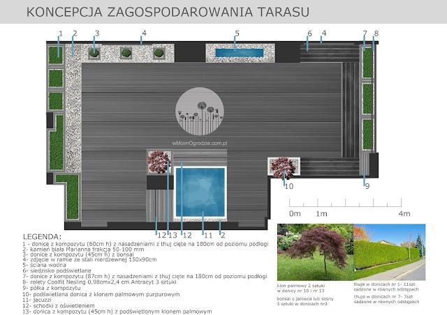 koncepcja zagospodarowania ogrodu tarasie