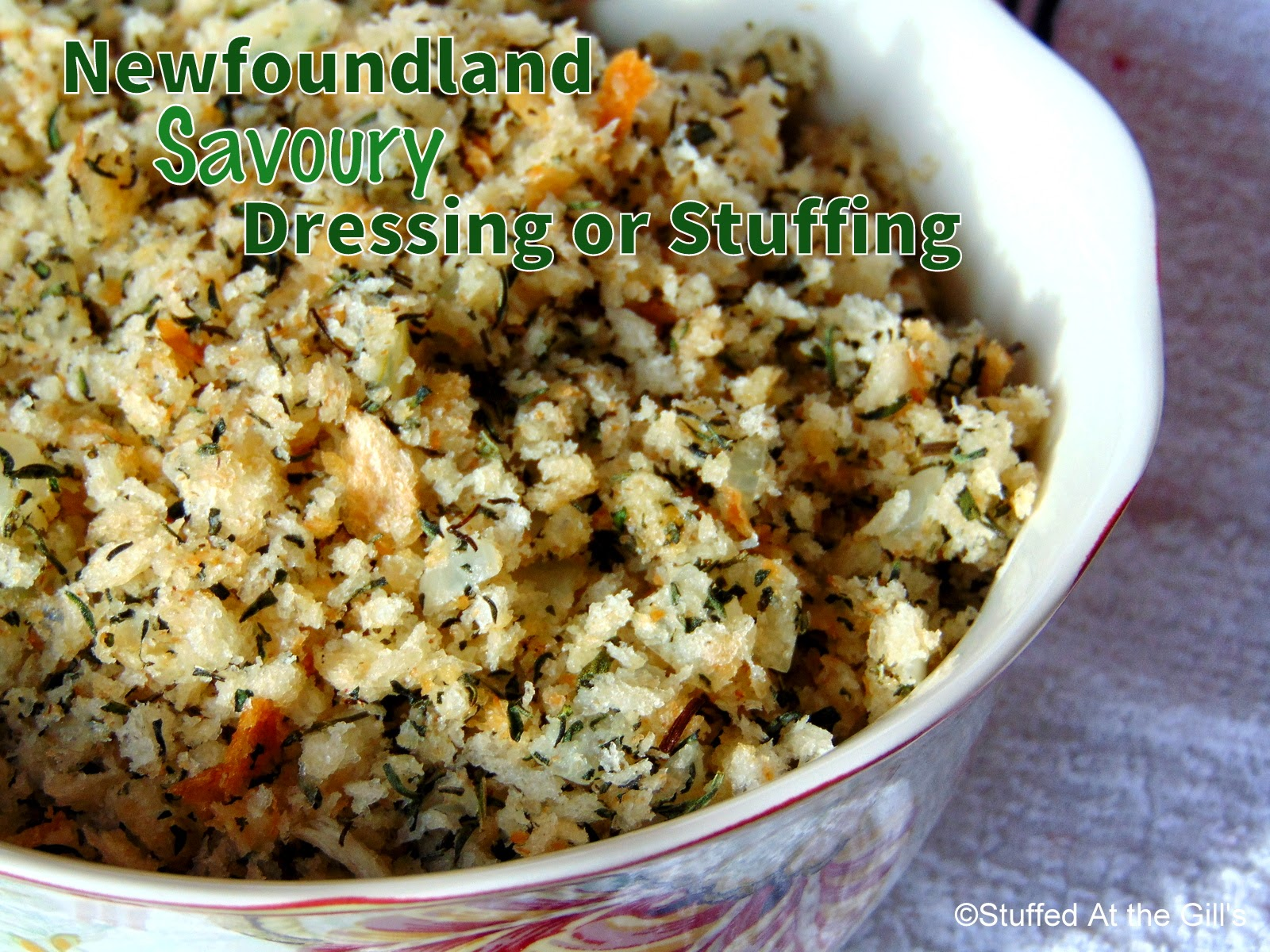 Newfoundland Savoury Dressing or Stuffing