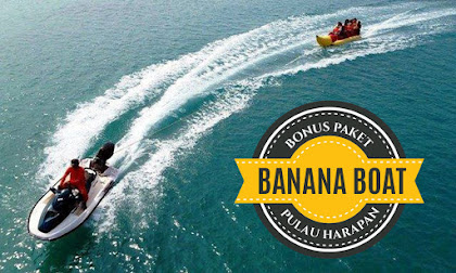 semua paket wisata pulau harapan bonus banana boat dan giant swan float