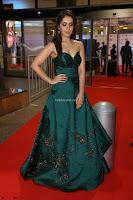 Raashi Khanna in Dark Green Sleeveless Strapless Deep neck Gown at 64th Jio Filmfare Awards South ~  Exclusive 076.JPG
