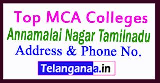 Top MCA Colleges in Annamalai Nagar Tamilnadu