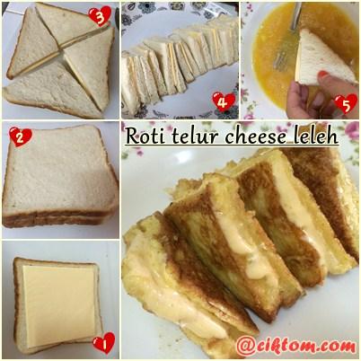 Resepi Roti Telur Cheese Leleh Mudah dan Cepat
