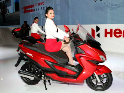 New coming Hero Dare 125cc Scooter Red & black color Hd Images