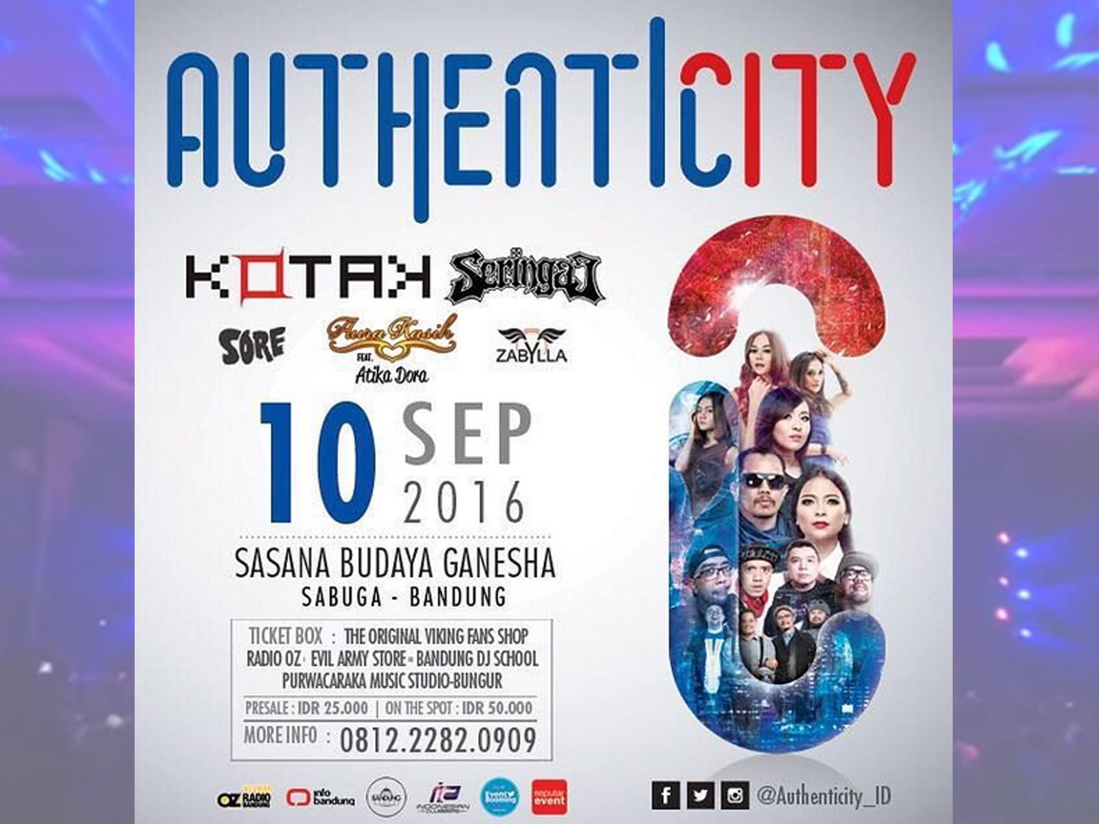 Konser Authenticity 2016 di Sabuga Bandung