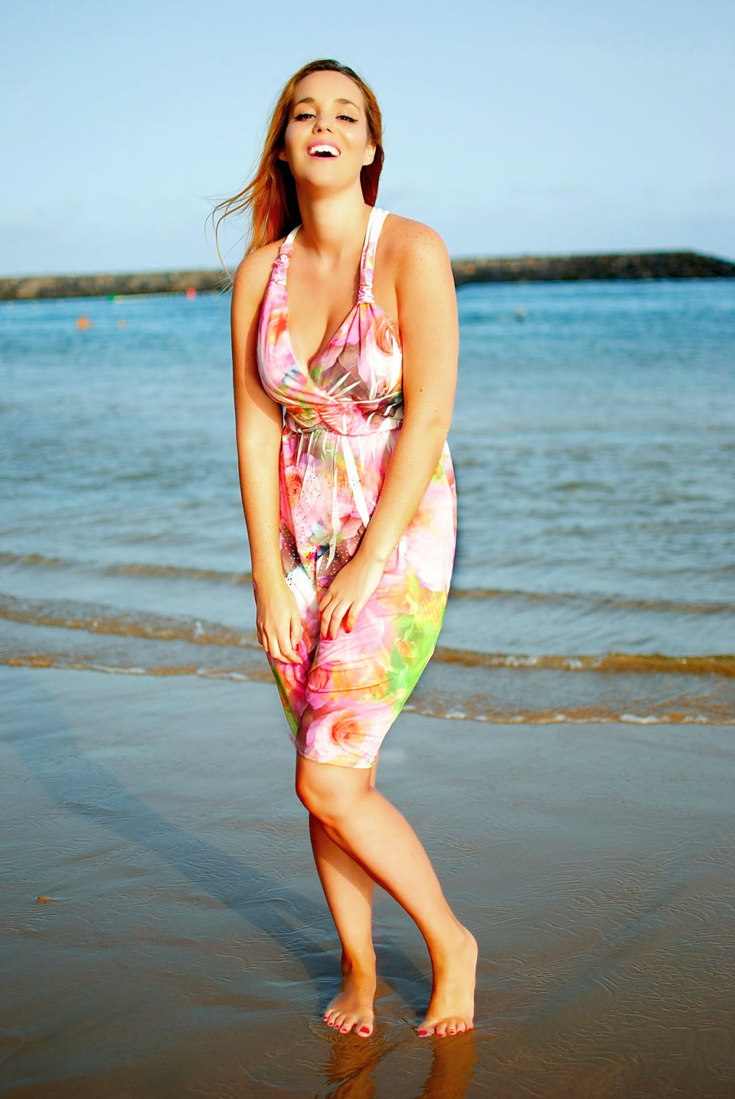 nery hdez, aftershock london, summer look, multi coloured dress,