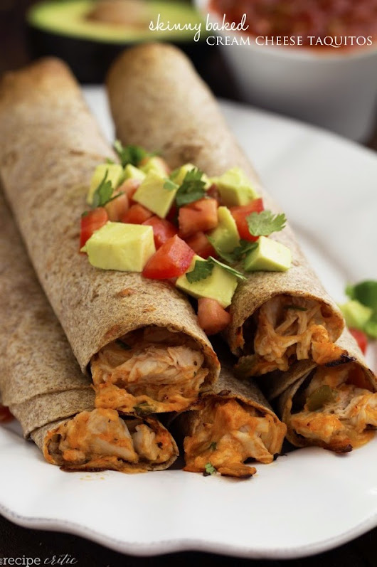 Cook it Quick: Skinny Baked Cream Cheese Taquitos