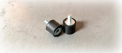 Custom Rubber Vibration Isolator Mounts With Steel Zinc Pin - 10-24 Thread