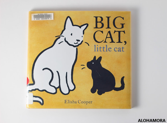 Big Cat, Little Cat! by Elisha Cooper gets 4 out of 5 stars in this book review.  A simple sweet story that cat owners should definitely check out, and the toddlers will enjoy the simple story.  Though, it is a deeper more meaningful message that older reads will grasp/catch. Caldecott Honor book for 2018, aka runner-up. Alohamora Open a Book, alohamoraopenabook.blogspot.com