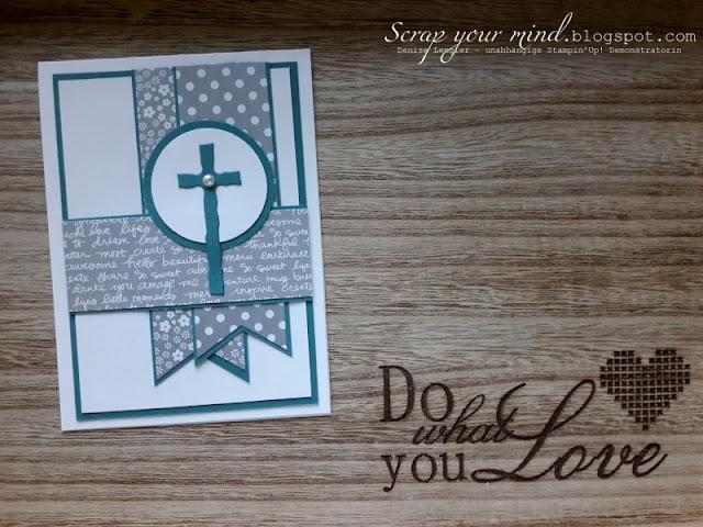 Kommunion-Designerpapier-Kreuz