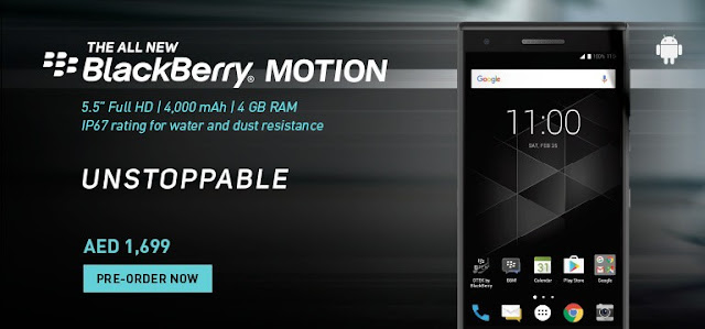 Blackberry Motion, release date, price and specification