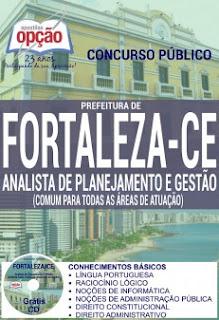 Apostila Sepog Fortaleza Analista de planejamento e gestão - Concurso Secretaria Municipal do Planejamento de Fortaleza 2016
