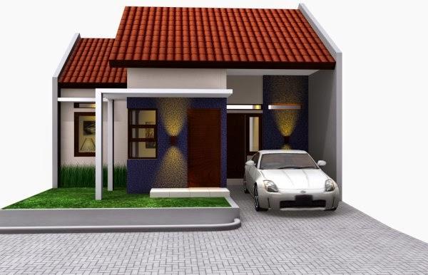 Contoh moderl rumah type 45 dengan desain modern