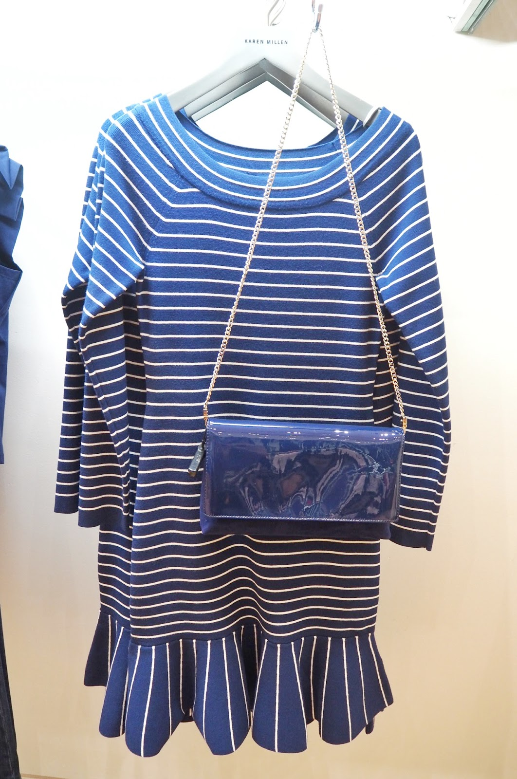 Karen Millen - Fine Stripe Knit Dress