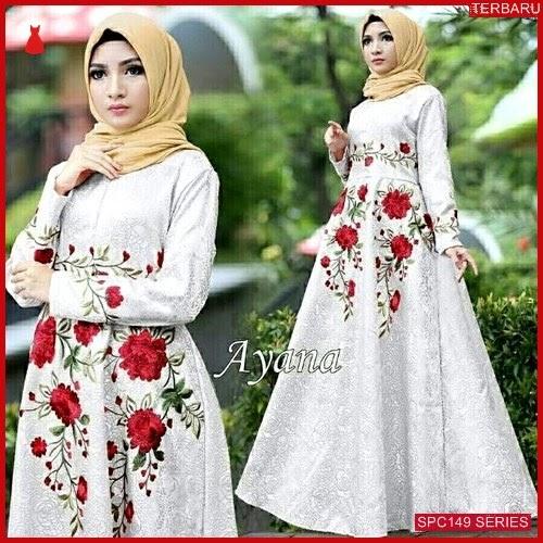 SPC149M85 Maxi Ayana Gamis Bordir Dress Muslim Wanita | BMGShop