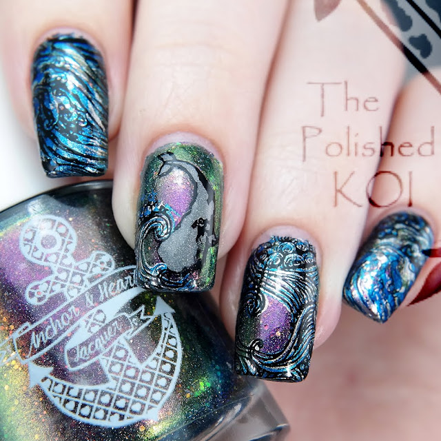 Anchor and Heart Lacquer Time Traveler Ocean Nail Art