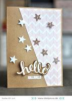 Kartenwind : Hello Card #kartenwind #cardmaking #karte #heroarts #danipeuss