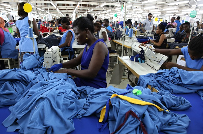 Sewing T Shirts in Ghana