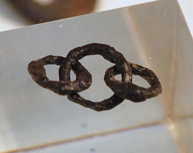 Kółka kolczugi z wczesnośredniowiecznej osady w Truso
