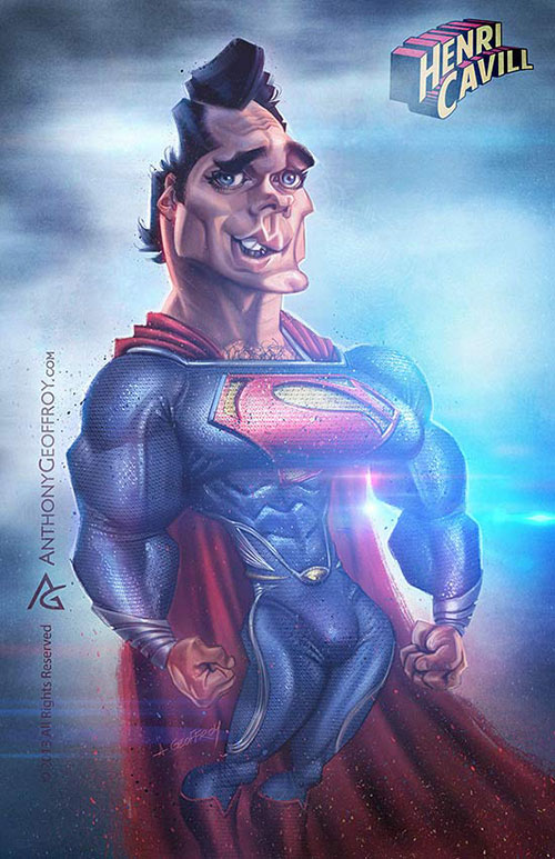 "Henry Cavill ""Superman, Man of steel"" por Anthony Geoffroy"