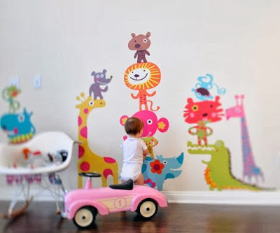 The Wall Decorating For Children Bedroom