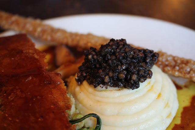 pork, black pudding The Longs Arms