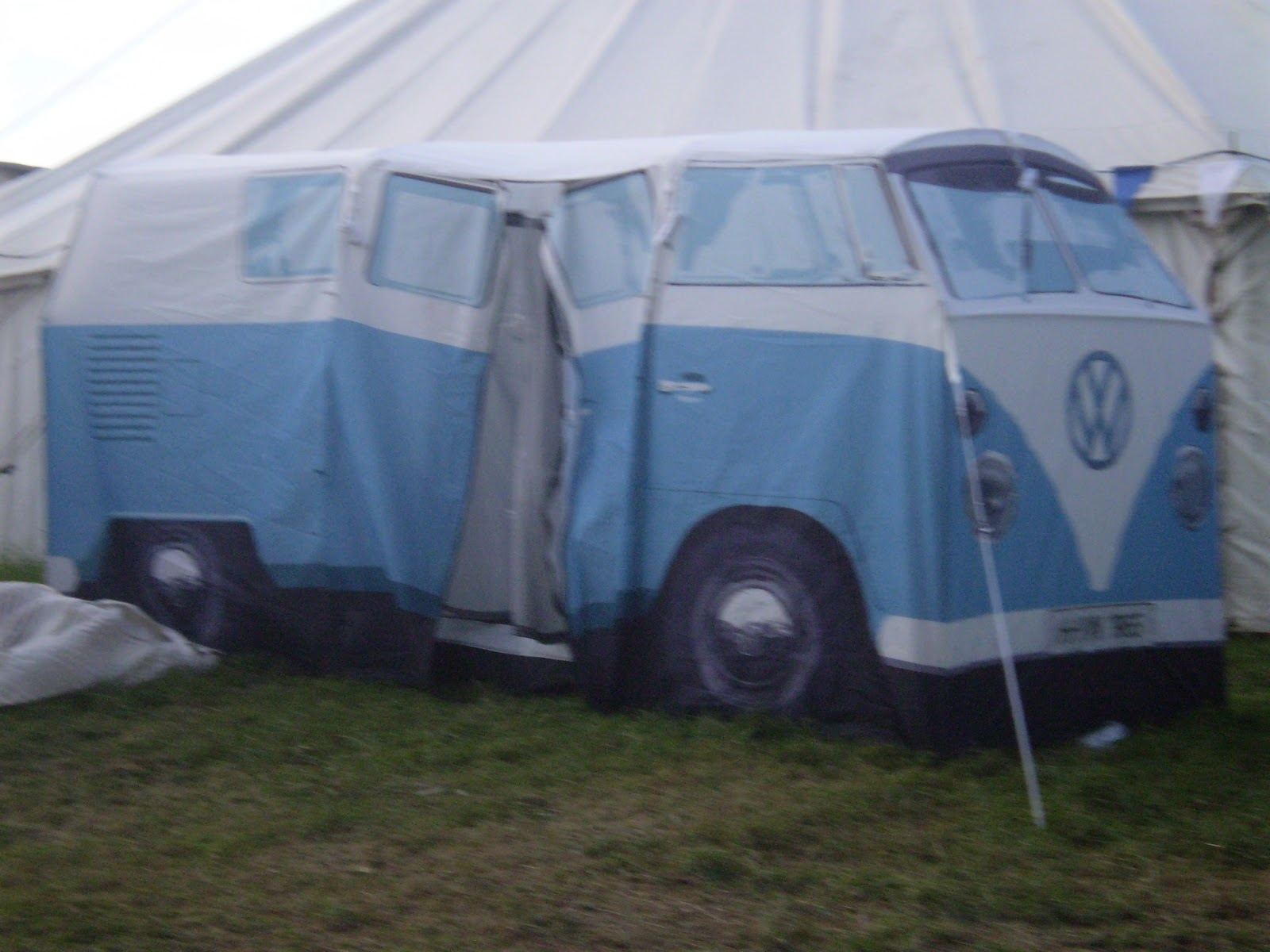 campervan vw tent blue